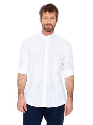 Cortefiel Hemd Maokragen (Weiß)