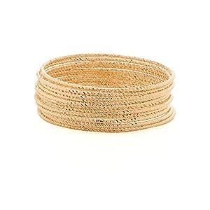 Voylla Gold Plated Set Of Twelve Bangles [Jewellery]