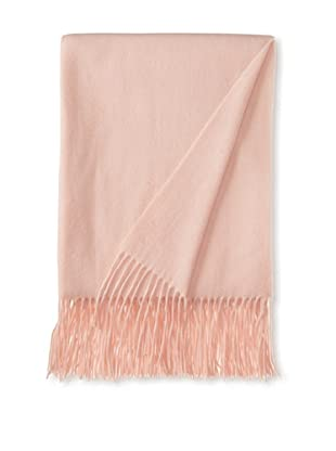a & R Cashmere Waterweave Cashmere Throw, Baby Pink, 50