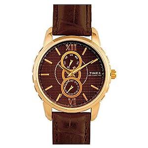 Timex E-Class Analog Brown Dial Men's Watch - E301