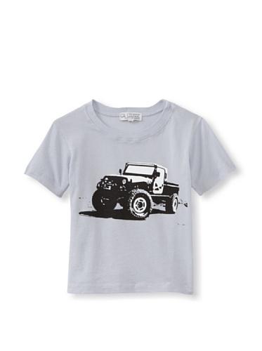 LA Lounge Boy's Safari Truck Crewneck Tee (Elephant Grey)