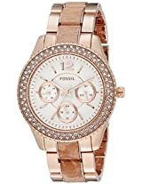 Fossil Stella ES3721 Round Dial Analogue Watch - For Women
