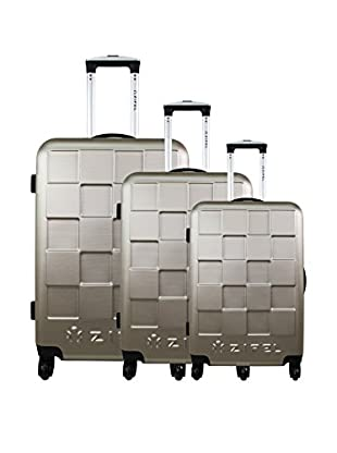 zifel Set de 3 trolleys rígidos A038 0.0 cm