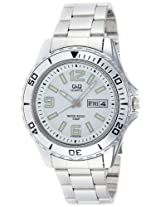 Q&Q Analog White Dial Men's Watch - A172N204Y