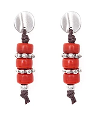 Sin Receta Pendientes 3 Cristales Rojos