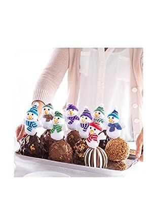 Mrs. Prindable's Set of 8 Snowmen Petite Caramel Apples