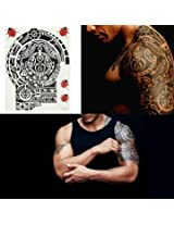 Left Shoulder Arm Temporary Tattoo Sticker Waterproof Removable
