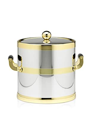 Kraftware Americano Ice Bucket (Chrome/Brushed Brass)