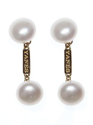 Yanes Gemelos Oro Perlas Cultivada Biwa