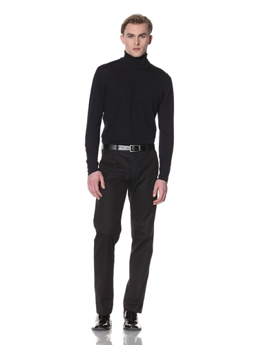 Halston Men's Wool Turtleneck Sweater (Blue)