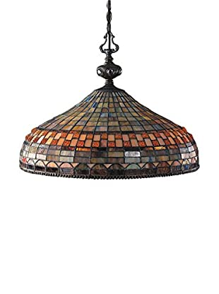 Artistic Lighting Jewelstone 3-Light LED Pendant Light, Classic Bronze