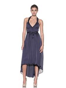 Kiki de Montparnasse Women's Silk Empire Halter Dress (Midnight)