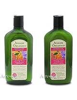 Avalon Organics Grapefruit & Geranium Smoothing Shampoo & Conditioner Duo, 11 oz