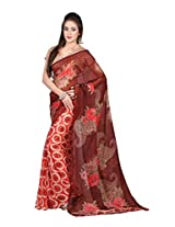 MemSahiba Women Printed Semi Chiffon Saree (MS-1263_Multi colored)