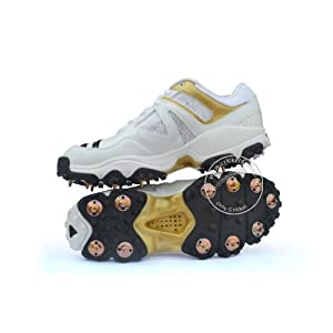Adidas Full Spike Men's Cricket Shoes-White
