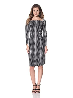 Leota Women's Gwenyth Dress (Black/White Geo)
