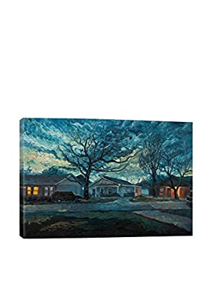 Alex Rydlinski Gallery Evening Falls In Fort Worth Wrapped Canvas Print