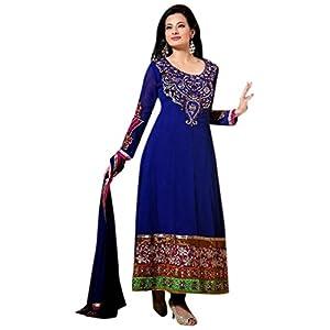 Designer Blue Colour Semi Georgette Anarkali Salwar Kameez