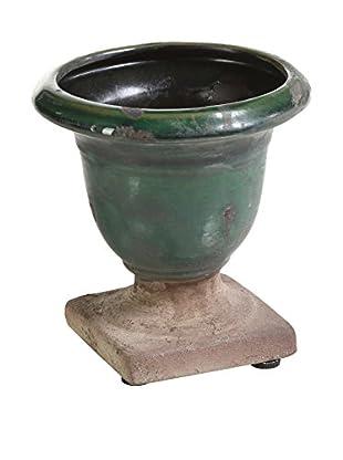 Large Bagatelle Terracotta Urn, Green