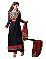 atisundar divine Black Embroidered Anarkali- 4127_39_307
