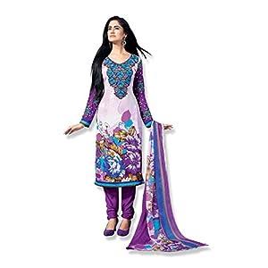 Fabfiza Semi Stitched Anarkali Suit - Purple