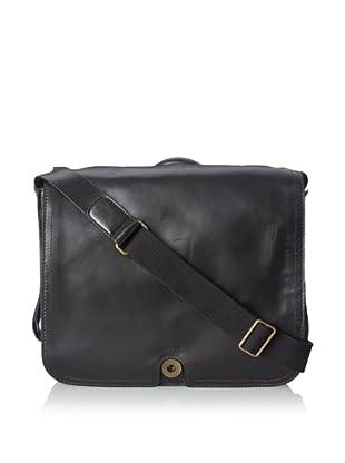 Bosca Men's Faustino Messenger Bag (Black)