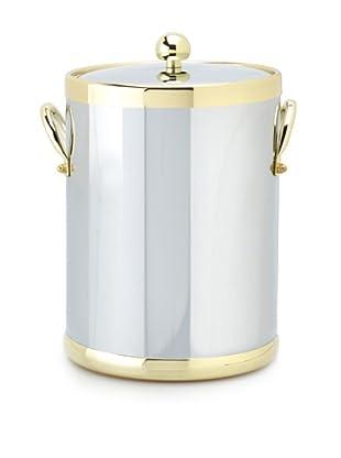 Kraftware Americano 5-Qt. Ice Bucket, Polished Chrome/Brass