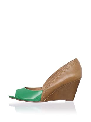 Kelsi Dagger Women's Genelle Wedge Pump (Kelly Green)