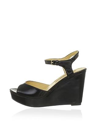 Buffalo London 312-4468 PATENT PU 143018 - Zapatos de pulsera  mujer (Negro)