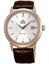 Orient Classic Automatic Men White Dial Brown Leather Strap Round Shape, Made in Japan