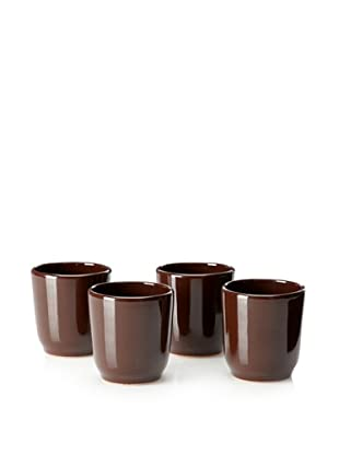COLI Set of 4 Water Tumblers (Brown)