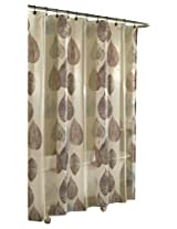Ex-Cell Home Fashions Gossamer Leaf Fabric Shower Curtain, Natural