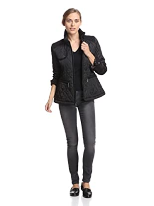 Vince Camuto Outerwear Women's Quilted Jacket (Black/Black)