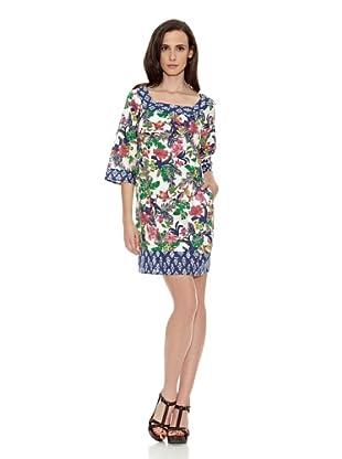 Cortefiel Vestido Túnica Estampada Algodón (Multicolor)