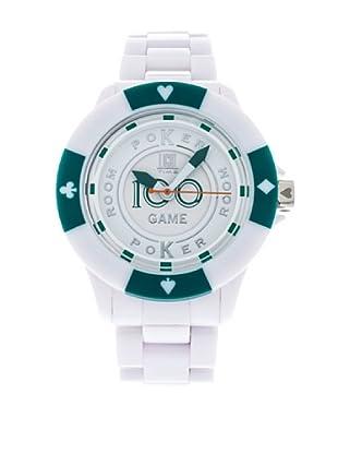 Light Time Reloj Poker Blanco / Verde