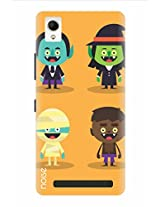 Noise Lliliput Horror Kids Printed Cover for Intex Aqua Power Plus