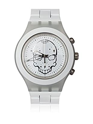 Swatch Quarzuhr Unisex Unisex FULL-BLOODED WHITE SKULL SVCW4000AG 43.0 mm