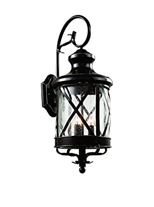Bel Air Lighting 3-Light Coach Lantern, Rubbed Oil Bronze