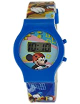 Disney Digital Multi-Color Dial Children's Watch - TP-1273 (Blue)
