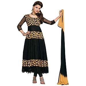 Latest Fashionable Embroidery Designer Black Anarkali Suit