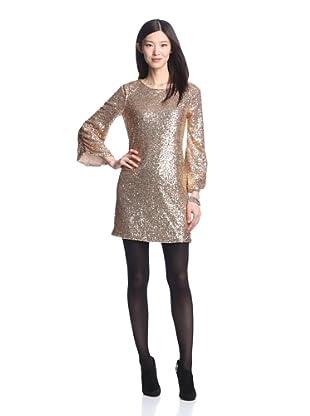 Luna by Josandra Women's Amber Sequined Dress (Gold)