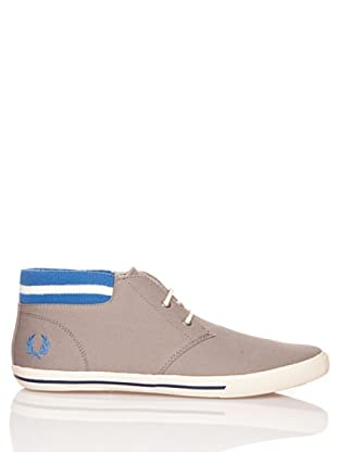 Fred Perry Deportiva Botin Byron Mid Collar Canvas (Gris)