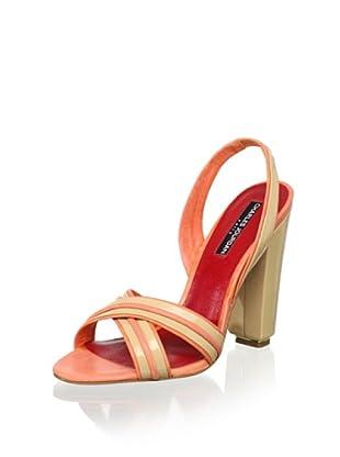 Charles Jourdan Women's Holiday Slingback Sandal (Champagne/Rose)