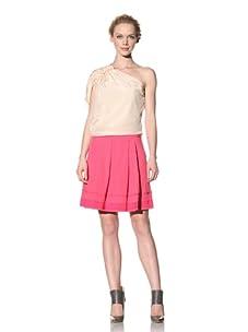 Philosophy di Alberta Ferretti Women's Box Pleated Skirt (Hot Pink)