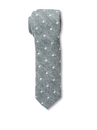 Gitman Blue Men's Polka Dot Tie, Grey