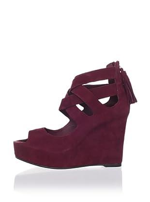 Dolce Vita Women's Jade Wedge Sandal (Burgundy)