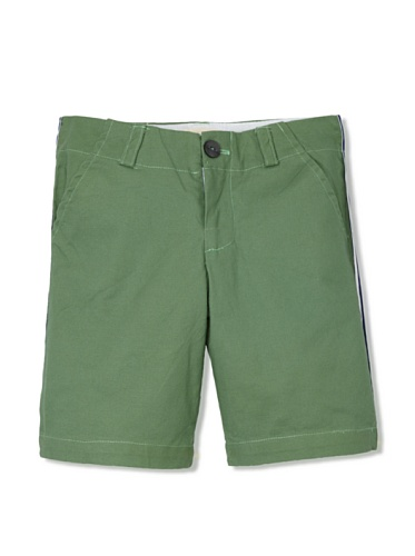 Upper School Boy's Racing Stripe Shorts (Kelly Green)