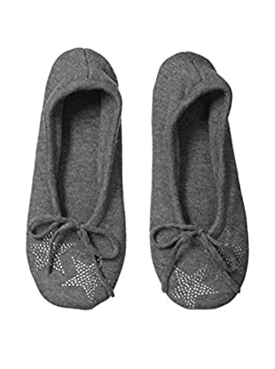 a & R Cashmere Star Crystals Slipper, Heather Grey