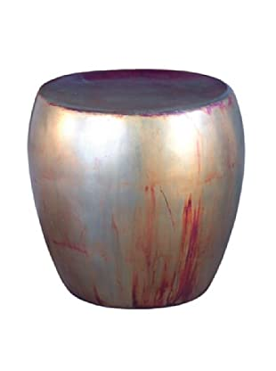 Phillips Collection Patina Drum Stool, Copper