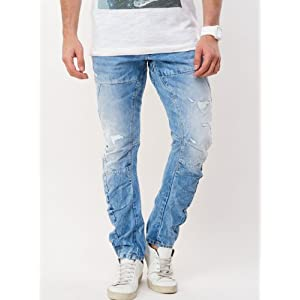 Textured Twisted Fit Skinny Denims By VOI Jeans